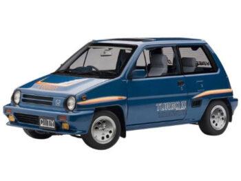 AUTOart 73283 Honda City Turbo II 1:18 Blue with Motocompo in White