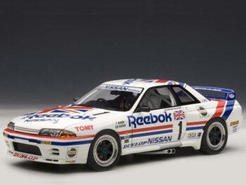 AUTOart 89078 Nissan Skyline GT-R R32 Group A 1990 Reebok #1 1:18 White
