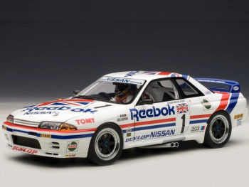AUTOart 89081 Nissan Skyline GT-R R32 Group A 1990 Reebok #1 1:18 with Figure
