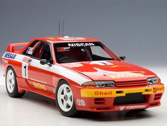 AUTOart 89279 Nissan Skyline GT-R R32 Bathurst Winner 1991 Richards #1 1:18 Red