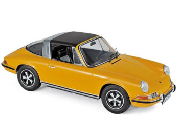 Norev 187633 1969 Porsche 911 E Targa 1:18 Orange with Black Top