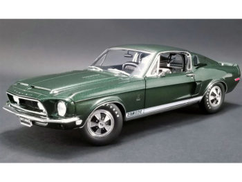 Acme A1801825 1968 Ford Mustang Shelby GT 350H Cobra Hertz 1:18 Dark Green