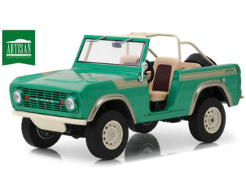 Greenlight 19034 Gas Monkey Garage 1976 Ford Bronco 1:18 Twin Peaks Green