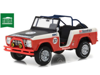 Greenlight 19037 1966 Ford Bronco Baja #37 BfGoodrich 1:18 Orange