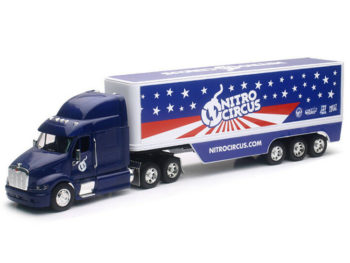 New Ray 10953 Nitro Circus Hauler Peterbilt Tractor long Truck 1:32 Blue