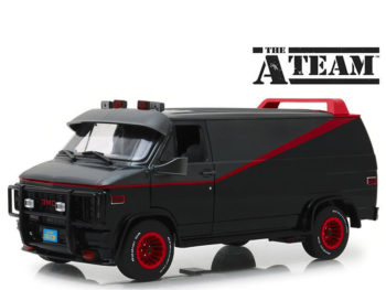 Greenlight 13521 The A Team 1983 Gmc Vandura Van 1:18 Black Grey
