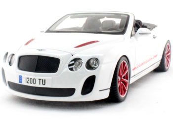 Bburago 18-11035 2013 Bentley Continental Supersports Convertible ISR 1:18 White
