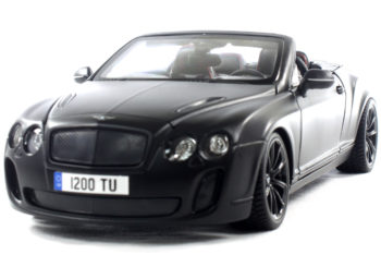 Bburago 18-11035 2013 Bentley Continental Supersports Convertible ISR 1:18 Matte Black