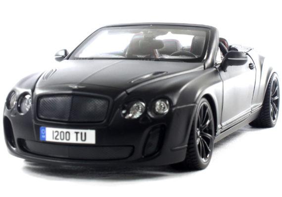 Bburago 18-11035 2013 Bentley Continental Supersports Convertible ISR 1:18 Matte Black