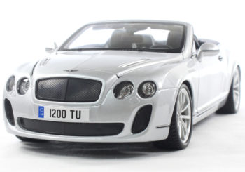 Bburago 18-11035 2013 Bentley Continental Supersports Convertible ISR 1:18 Silver