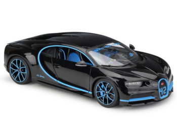 Bburago 18-11040 BK42 Bugatti Chiron 42 Edition 1:18 Two-Tone Black with Blue accents