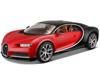 Bburago 18-11040 Bugatti Chiron 1:18 Two-Tone Red Black