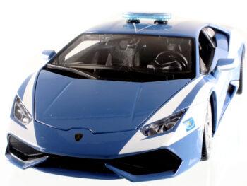 Bburago 18-11041 Lamborghini Huracan LP 610-4 1:18 Police Car Blue