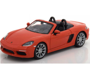 Bburago 18-21087 Porsche 718 Boxster 1:24 Orange