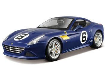Bburago 18-76104 Ferrari California T Sunoco #6 1:18 70th Anniversary Blue