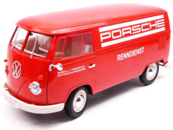 "Welly 18053 1963 VW Volkswagen T1 Bus Van ""Porsche"" 1:18 Red"