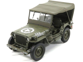 Welly 18055 Jeep Willys U.S. Army with Soft Top 1:18 Green