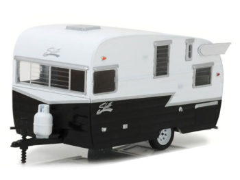 Greenlight 18440 B Shasta 15' Airflyte Camper Trailer 1:24 Black White