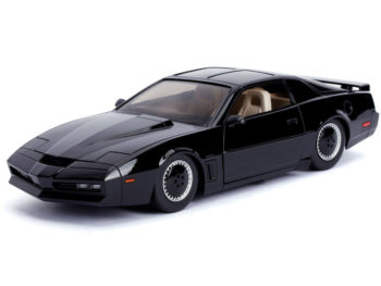 Jada 30086 Hollywood Rides Knight Rider Pontiac Firebird K.I.T.T. Car 1:24 with Working Scanner Light