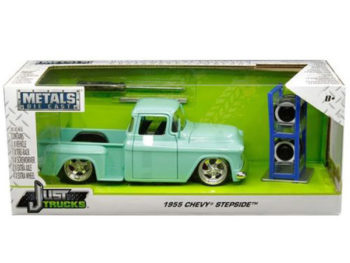 Jada 30197 Just Trucks with Extra Wheels 1:24 1953 Chevrolet Stepside Pickup Truck Light Turquoise