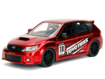 Jada 30389 JDM Tunders 2012 Subaru Wrx Sti 1:24 Toyo Tires Red