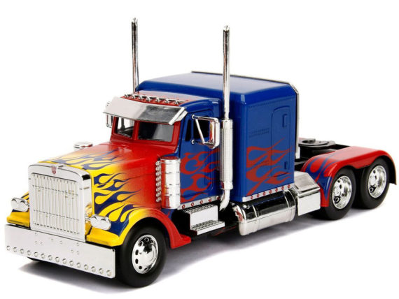 Jada 30446 Hollywood Rides Transformers 1:24 Optimus Prime Blue with Flames