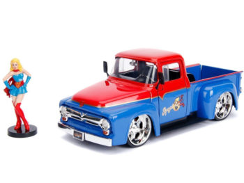Jada 30454 DC 1956 Ford F-100 Pick Up Truck 1:24 with Supergirl Figure