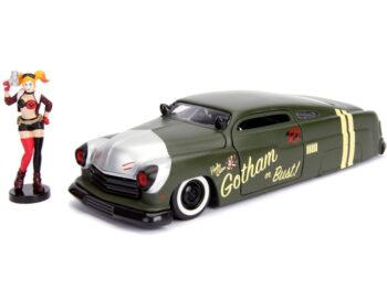Jada 30456 DC Bombshells 1951 Mercury 1:24 with Harley Quinn Figure