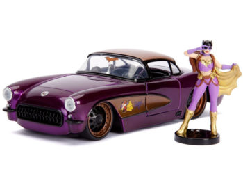 Jada 30457 DC Bombshells 1957 Chevrolet Corvette 1:24 with Batgirl Figure