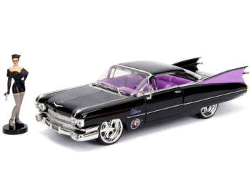 Jada 30458 DC 1959 Cadillac Coupe Deville 1:24 with Catwoman Figure