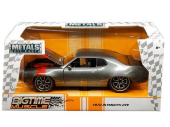 Jada 30530 Bigtime Muscle 1972 Plymouth GTX 1:24 Grey Metallic