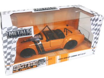 Jada 30531 Bigtime Muscle 1965 Shelby Cobra 427 S/C 1:24 Orange