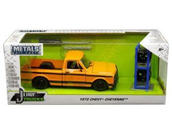 Jada 30658 Just Trucks with Extra Wheels 1:24 1972 Chevrolet Cheyenne Pickup Truck Orange