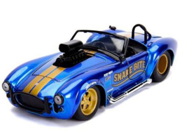 Jada 30706 Bigtime Muscle 1965 Shelby Cobra 427 S/C with Blower Engine 1:24 Candy Blue