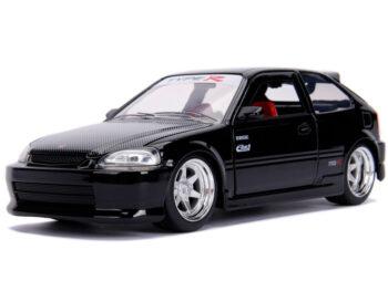 Jada 30719 JDM Tunders 1997 Honda Civic EK Type R 1:24 Glossy Black