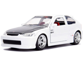 Jada 30720 JDM Tunders 1997 Honda Civic EK Type R 1:24 Glossy White