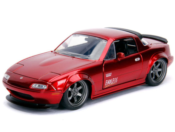 Jada 30938 JDM Tuners 1990 Mazda Miata Hard Top 1:24 Candy Red