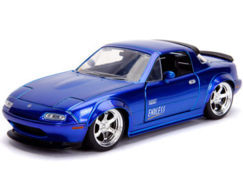 Jada 30942 JDM Tuners 1990 Mazda Miata Hard Top 1:24 Candy Blue