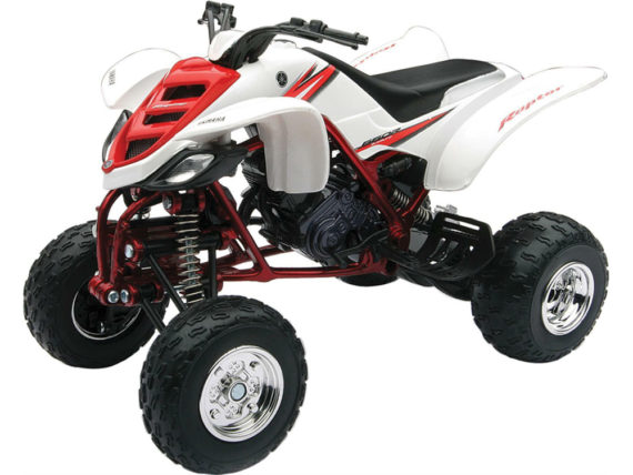 New Ray 42923 A 2005 Yamaha 660R Raptor ATV 1:12 White Red