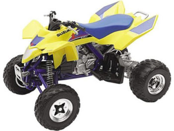 New Ray 43393 Suzuki Quadracer R450 ATV 1:12 Yellow