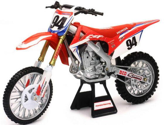 New Ray 49593 Team Honda HRC CRF 450R Dirt Bike 1:6 #94 Ken Roczen Red