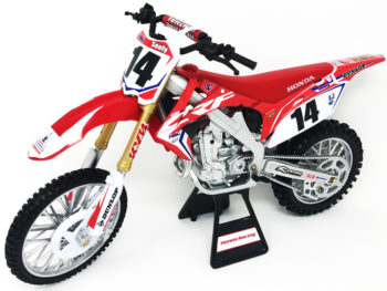 New Ray 49603 Team Honda HRC CRF 450R Dirt Bike 1:6 #14 Cole Seely Red