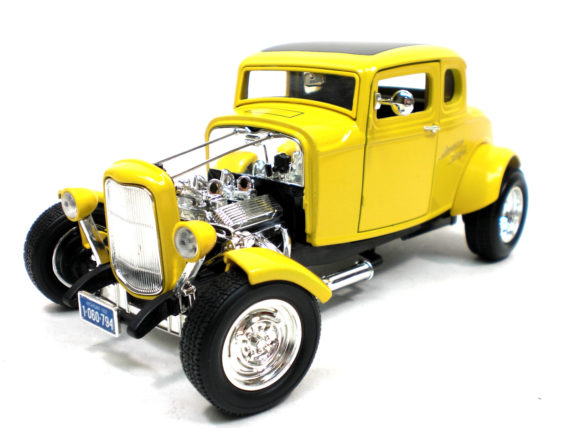 Motormax 73100 A American Graffiti 1932 Ford Coupe 1:18 Yellow