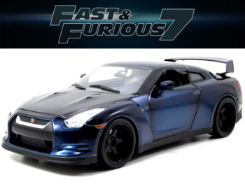 Jada 64018 W8 The Fast and Furious Brian's Nissan Skyline GT-R R35 1:18 Blue