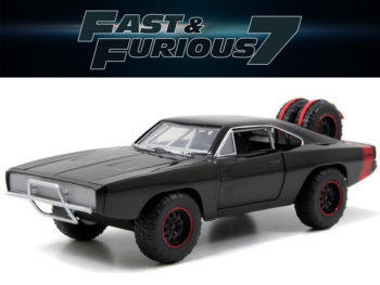 Jada 97038 Fast & Furious 7 Dom's 1970 Dodge Charger R/T 1:24 Off Road Black