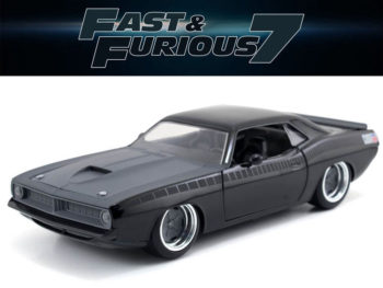 Jada 97195 Fast & Furious 7 Letty's 1970 Plymouth Barracuda 1:24 Grey Black