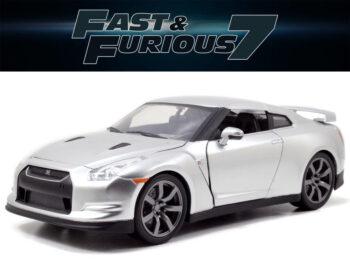 Jada 97212 Fast & Furious 7 Brian's 2009 Nissan Skyline GT-R R35 1:24 Silver