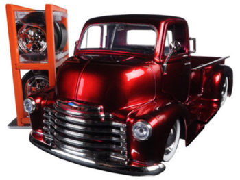 Jada 97225 Just Trucks with Extra Wheels 1:24 1952 Chevrolet Coe Pickup Truck Red