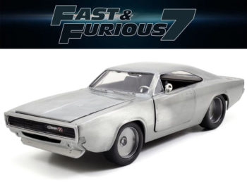 Jada 97336 Fast & Furious 7 Dom's 1970 Dodge Charger R/T 1:24 Bare Metal