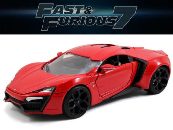 Jada 97377 Fast & Furious 7 Lykan Hypersport Supercar 1:24 Red